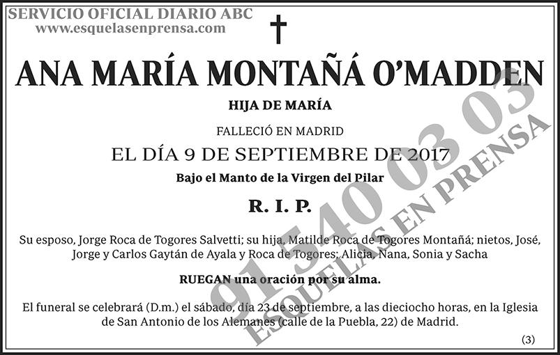 Ana María Montañá O'Madden